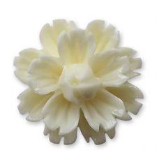 14mm Cream Sakura Lucite Flower Resin Flatback Cabochons